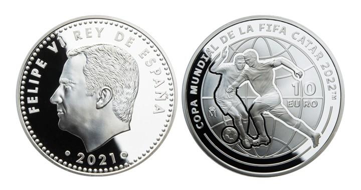 Monedas de UEFA 2021 y FIFA 2022