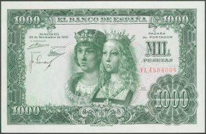 1.000 pesetas 1957. Reyes Católicos. Número de serie: 1L4594064