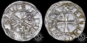 Dinero Alfonso VI Toledo, tipo II variante