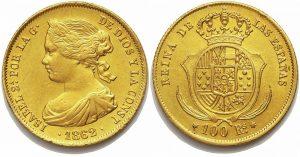Isabel II, 100 reales Madrid 1862