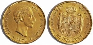 Alfonso XII, 25 pesetas 1878 (18-78)