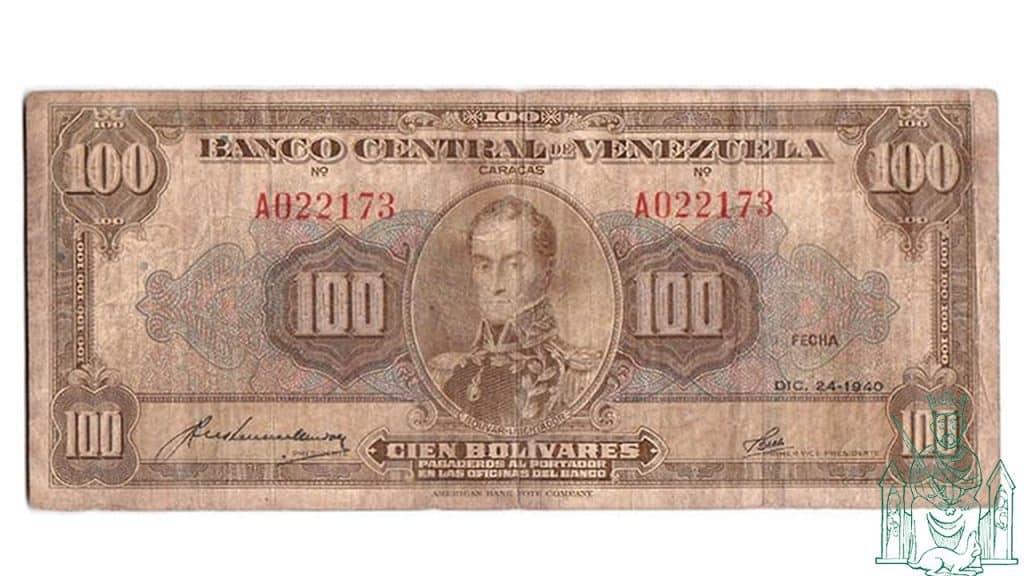 Billete de 100 bolivares