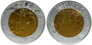 25 euros niobio 2009. Año Internacional de la Astronomía