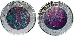 25 euros niobio 2016. Tiempo
