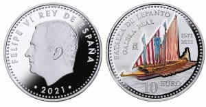 10 euros 2021. Batalla de Lepanto