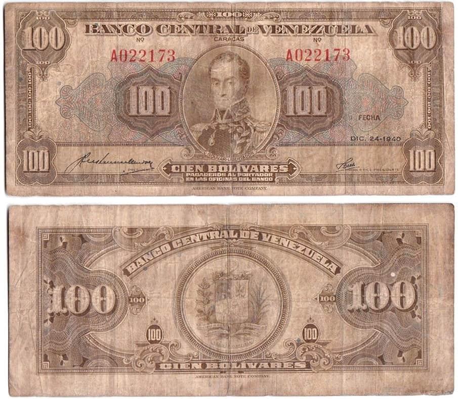 100 Bolívares 1940