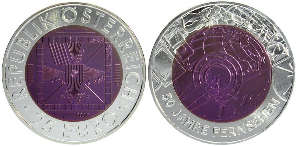 25 euros niobio 2005. Televisión
