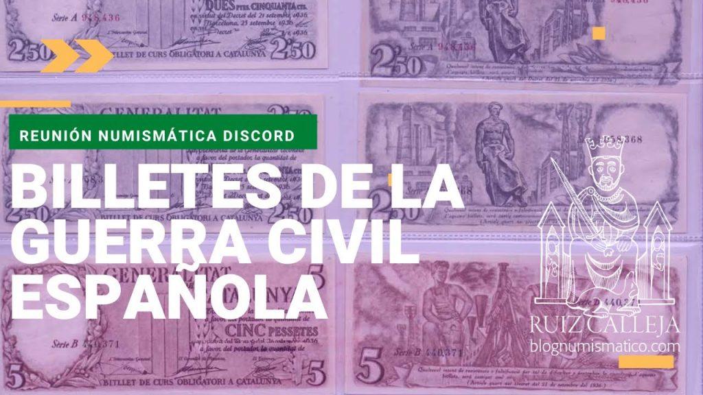 billetes guerra civil española